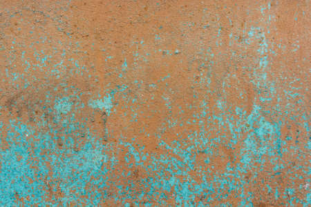 Brown cracked painting on wooden surface Stock Photo
