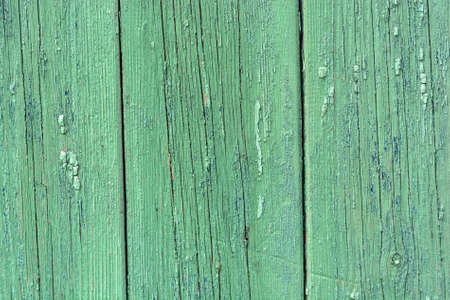 Green wooden planks background