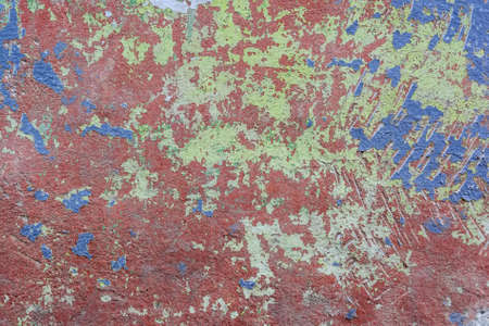 Close up colorful damaged cement plaster texture Stock Photo