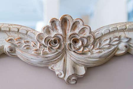 Close up retro metal carved decoration