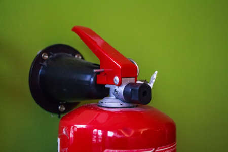 Close up fire extinguisher Stock Photo