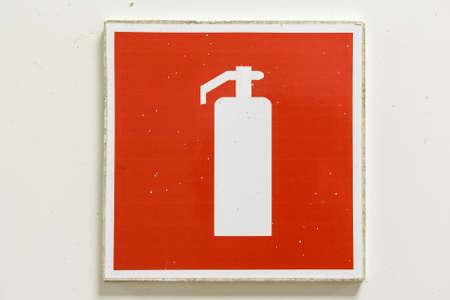 Fire extinguisher symbol Stock Photo