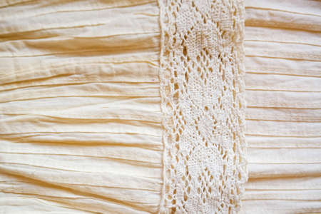 Close up of female linen dress background texture