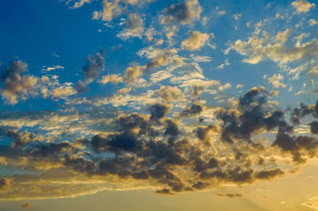 Dramatic evening skyscape with clouds