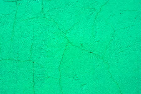 Close up green plaster surface texture background