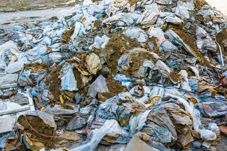 landfill site: Landfill waste close up