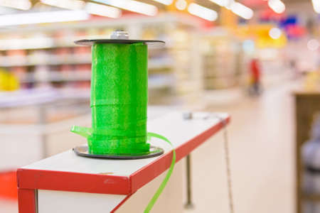 Reel with green tape Stock Photo