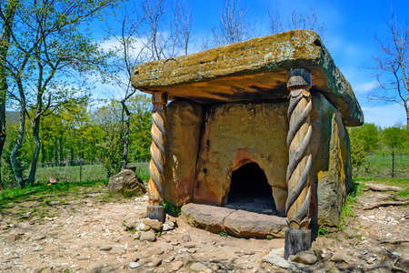Beautiful stone dolmen in Caucasus