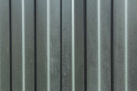 brushed steel: Close up of grey corrugated metal texture surface Stock Photo