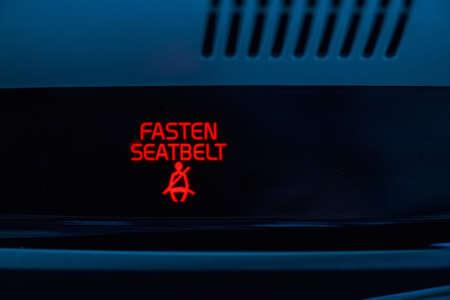 telltale: Fasten seat belt sign in car