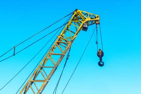 Close up of construction crane Stock Photo