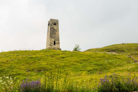Watchtower in Alanian necropolis in North Ossetia