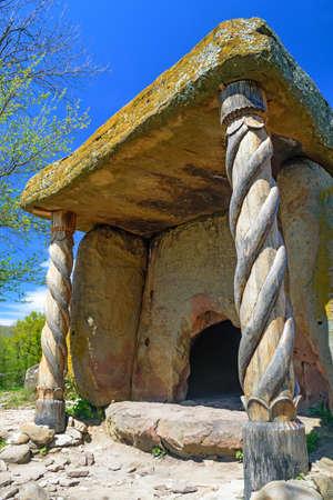 Beautiful stone dolmen in Caucasus