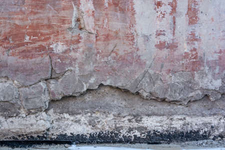 Abstract texture of wall covered with cement plaster Stock Photo