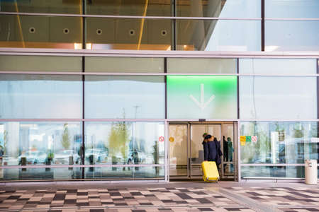 ROSTOV-ON-DON, RUSSIA - 7 OCTOBER 2018: Entrance of Platov airport in Rostov