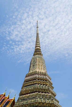 One of Pagoda in Wat Pho Full Decorated with colourful Mosaics in Bangkok,Thailand Stock Photo - 15726219