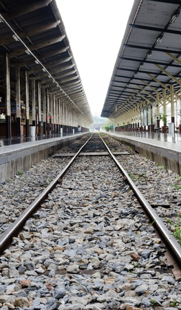 TRAIN STATION IN NORTHERN THAILAND photo