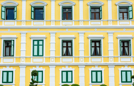GOVERMENT OFFICE BUILDING DECORATED     WITH NEW COLOR ,          BANGKOK,THAILAND Stock Photo
