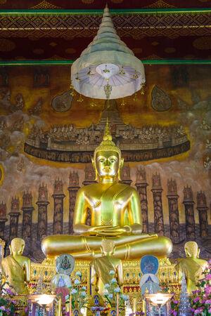 disciples: BUDDHA AND HIS DISCIPLES IN WAT RAKANGKOSITARAM VORAVIHAN, BANGKOK,THAILAND Editorial