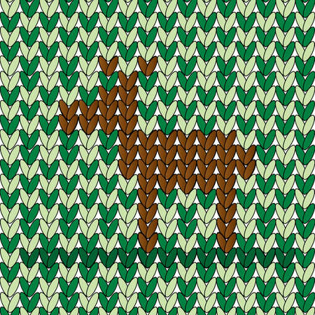 rin: A brown dee rin woven pattern of green stitches