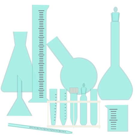 biologia: Cristalería para el equipo de laboratorio químico y biológico experimentos-