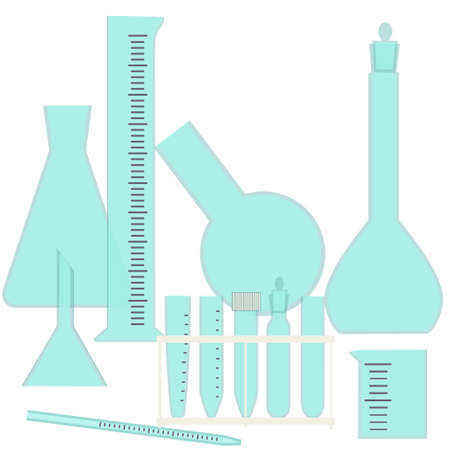 molecular biology: Glassware for chemical and biological experiments- lab equipment