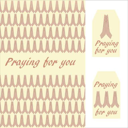 기도의 손 - 세계의 모든 종교에 대한 보편적 인 상징으로 엽서 및 선물 태그