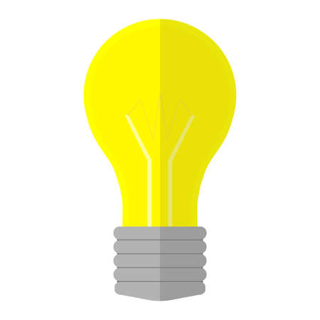 incandescent lamp - lightbulb in flat style