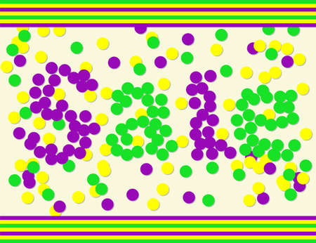 party poppers: Mardi gras sale template by confetti in traditional colors