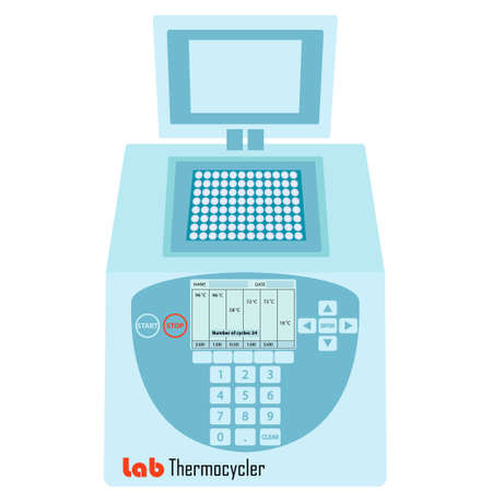 electrophoresis: Thermal cycler -  laboratory apparatus for polymerase chain reaction - lab equipment for molecular biology research