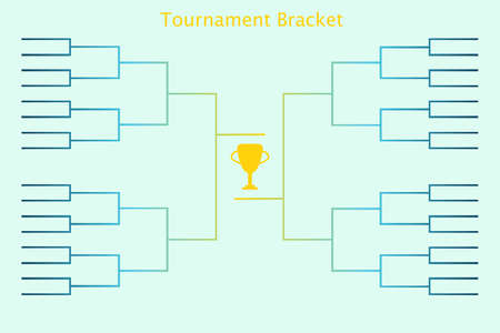 Tournament bracket. Vector illustration of tournament bracket for sport championship in football, basketball, soccer, tennis and other sport activities.