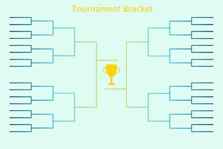 grupo del torneo. Ilustración del vector del grupo del torneo por el campeonato deportivo en el fútbol, ??baloncesto, fútbol, ??tenis y otras actividades deportivas.
