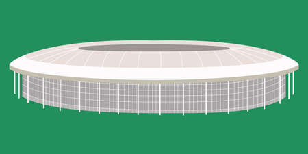 Russian sport stadium for football tournament, athletic competition. illustration of arena Vektorové ilustrace