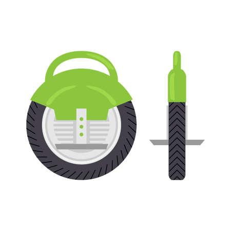 unicycle: Self Balancing Electric Unicycle concept. illustration for modern urban transportation vehicle. Illustration