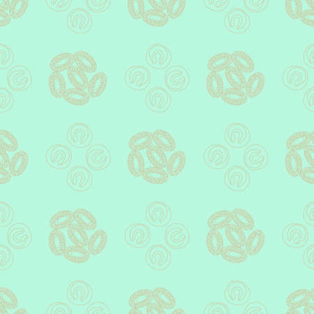 peat: Plankton seamless pattern. Vector illustration with small organism of phytoplankton . Ideal for fabric, textile, backdrop, wallpaper, wrapping paper on environmental biological nature theme. Illustration