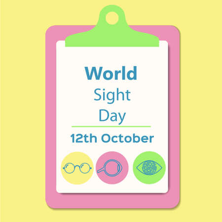 World sight day awareness sign. Stock vector illustration for medical campaign on 12th October for healthy eyes.