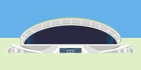 Minsk, Belarus - March 7, 2017: russian sport stadium Kazan Arena in Kazan, Tatarstan, Russia for 2018 FIFA World Cup taking place from June 14 to July 15