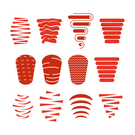 doner kebab icon set