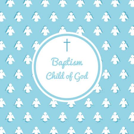 Modèle de carte d & # 39 ; invitation baptême . illustration vectorielle pour le jeu de jeu de rôle de bébé ou de la promotion Banque d'images - 91419079