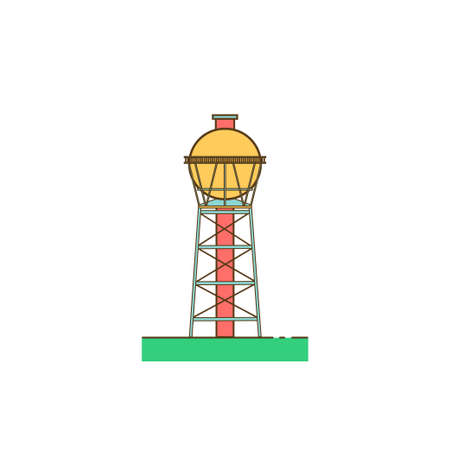 Water tower building Illustration