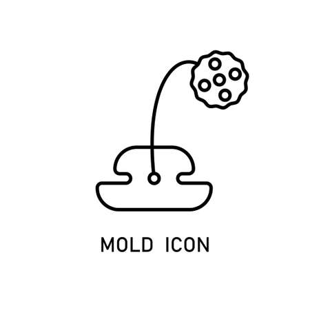 Mold linear icon on white background. Stock Vector - 98082289