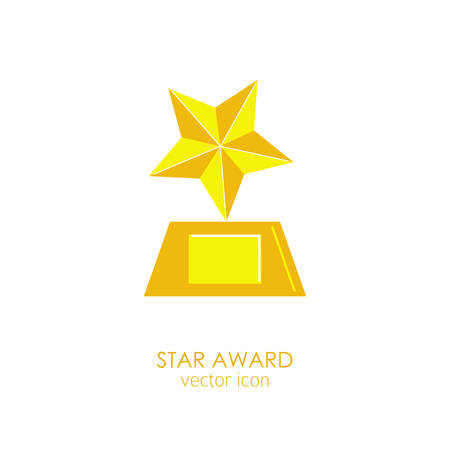 Prize and award star icon.
