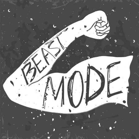 beast mode lettering Ilustração