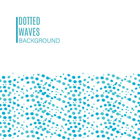 dotted wave seamless pattern Illustration