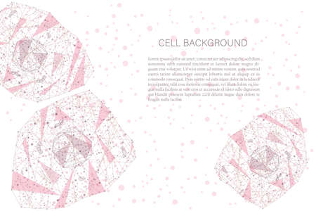 polygonal cell background Illustration