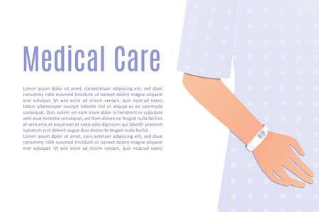 mano del paciente del hospital Ilustración de vector