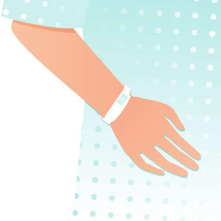ziekenhuis patiënt hand