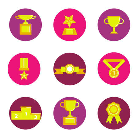 prize award icon set