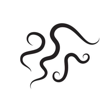 Icono de vector de parásito de gusano. Ilustración vectorial
