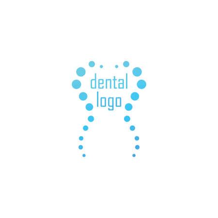 dental clinic logo with tooth shape by circles Illustration